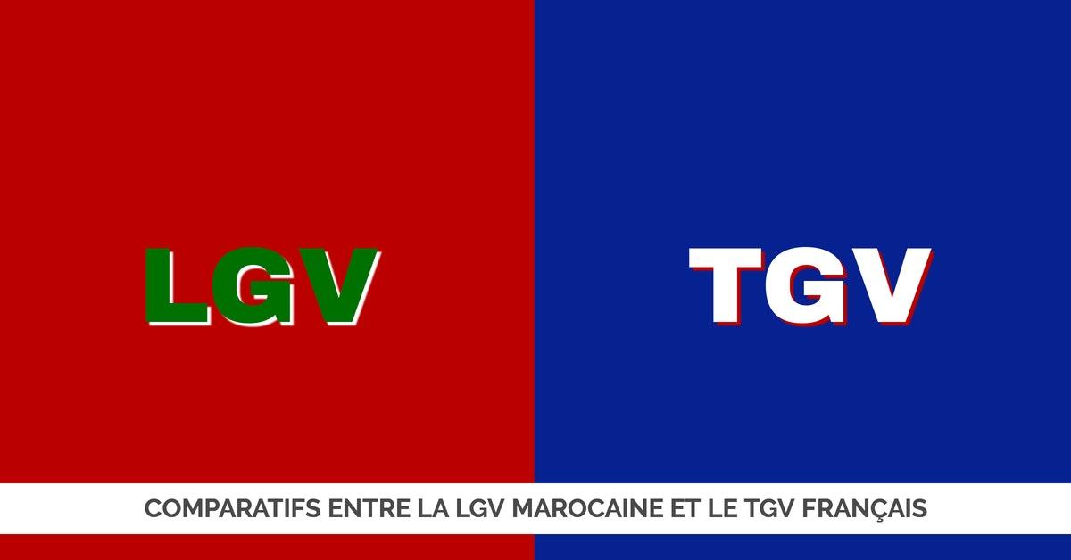 Comparatifs entre la LGV Marocaine et le TGV Français